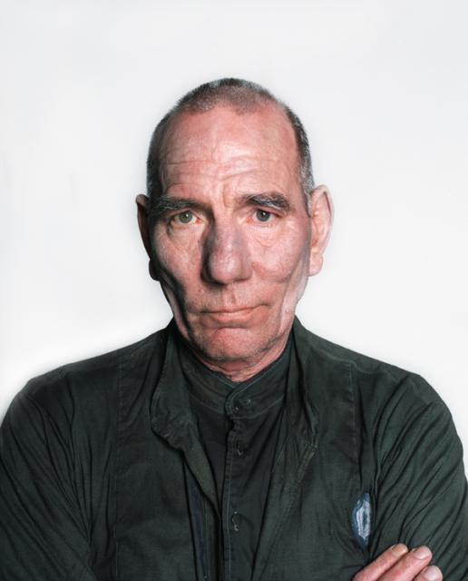 Pete Postlethwaite portrait - medium close up