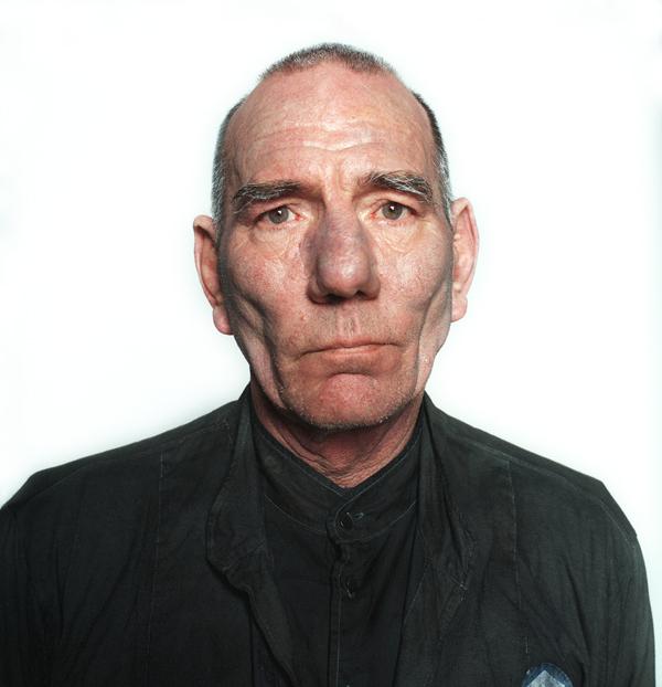 Pete Postlethwaite portrait - close up